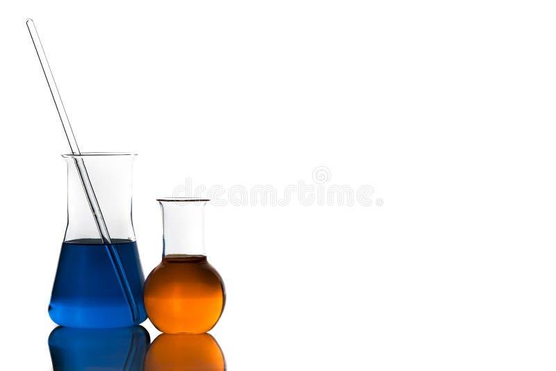 Equipamento de laboratório sobre o branco imagem de stock royalty free