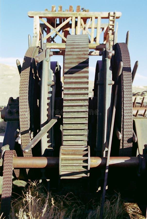 Equipamento de mineração velho fotos de stock