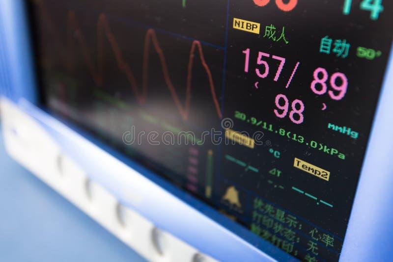 Equipamento de monitoração portátil dos cuidados médicos imagens de stock royalty free