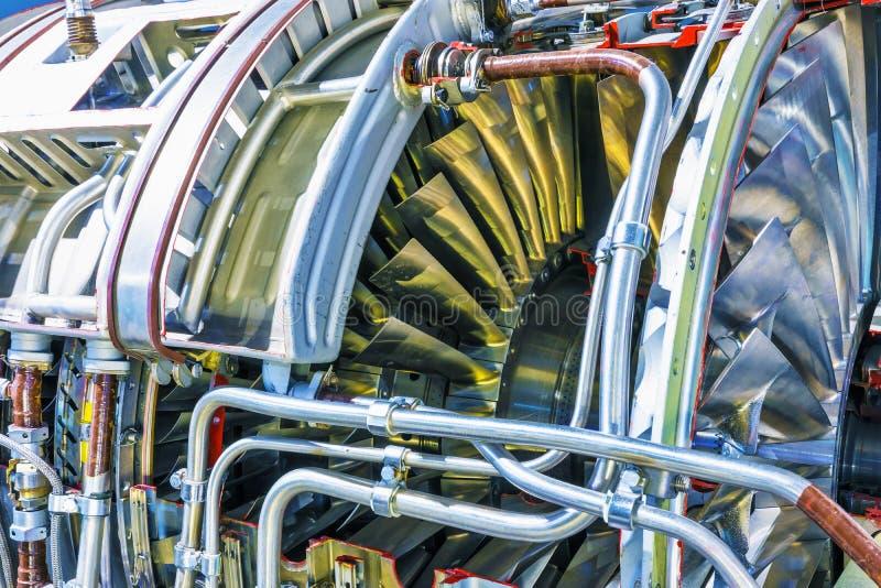 Equipamento de motor do turbojato da aviação foto de stock royalty free
