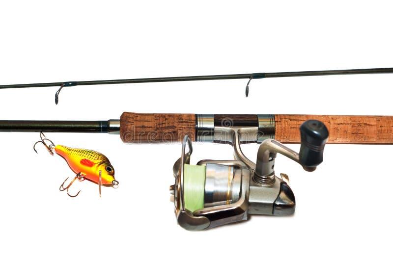 Equipamento de pesca imagens de stock