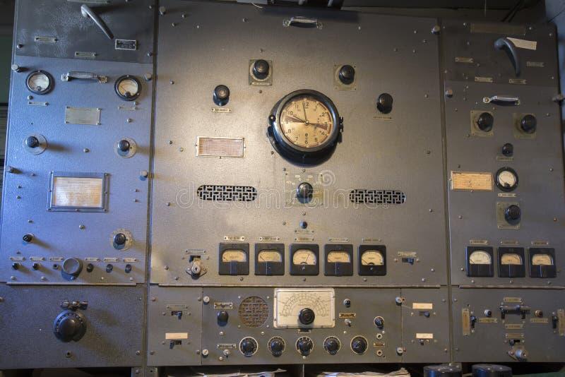 Equipamento de rádio em Liberty Ship imagens de stock
