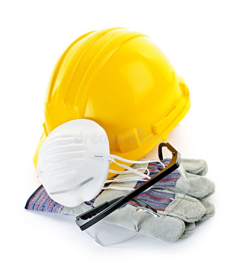 Equipamento de segurança da construção fotografia de stock