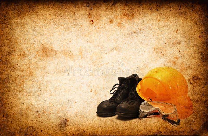 Equipamento de segurança para a indústria da construção civil fotos de stock