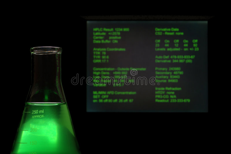 Equipamento de vidro no laboratório de ciência foto de stock royalty free