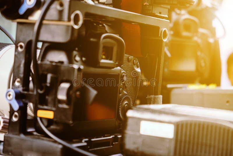 Equipamento digital profissional da câmara de vídeo imagem de stock