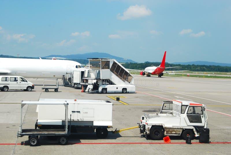 Equipamento do aeroporto foto de stock royalty free
