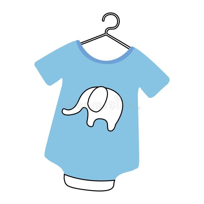 Equipamento do bebê com elefante ilustração stock