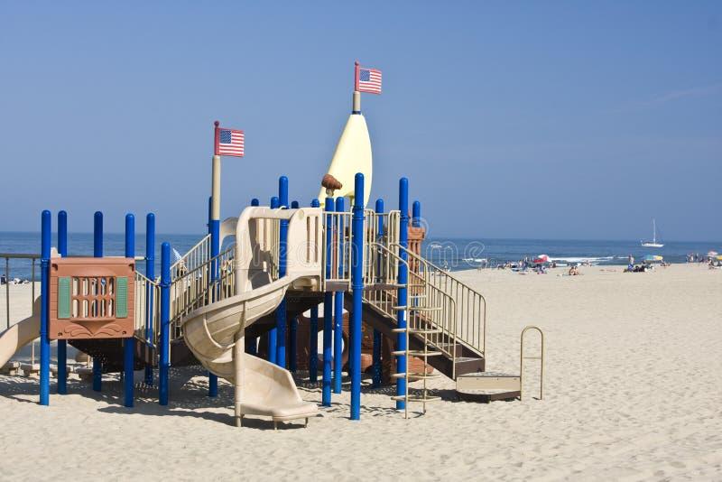 Equipamento do campo de jogos em Virginia Beach fotos de stock