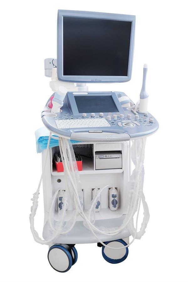 equipamento do diagnóstico do ultrassom foto de stock