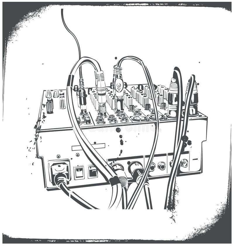 Equipamento do DJ ilustração do vetor