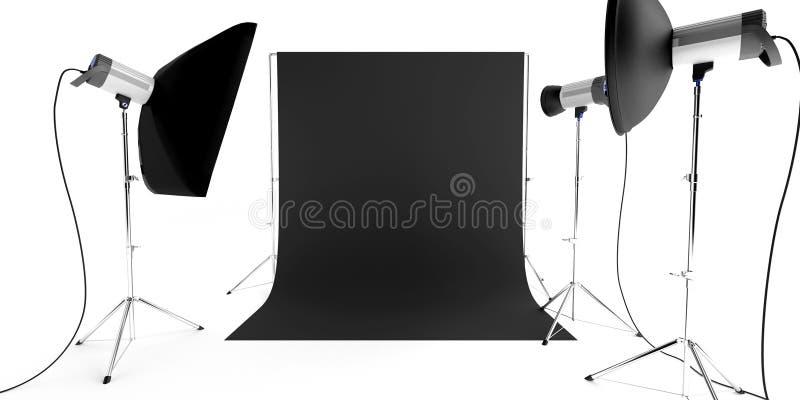 Equipamento do estúdio da foto fotos de stock