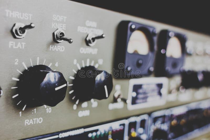 Equipamento do estúdio de gravação fotografia de stock royalty free