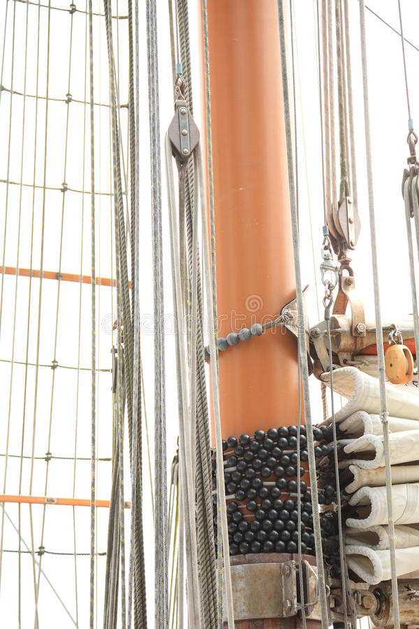 Equipamento do navio no iate velho imagem de stock royalty free