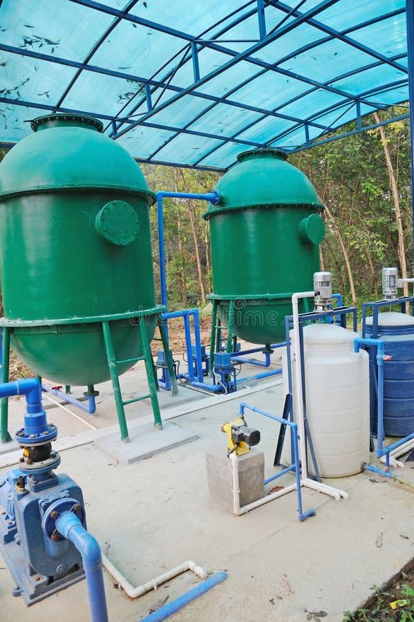 Equipamento do tratamento da água imagens de stock