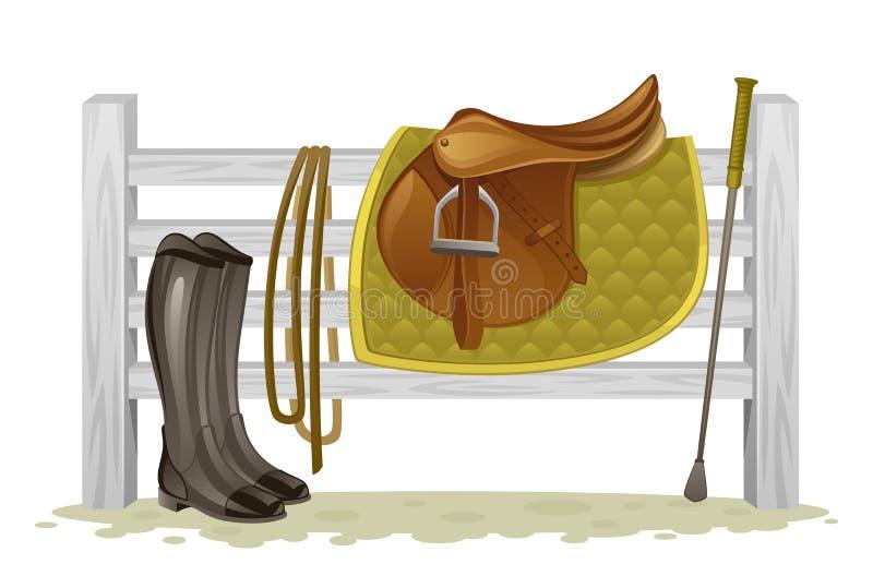 Equipamento equestre ilustração stock