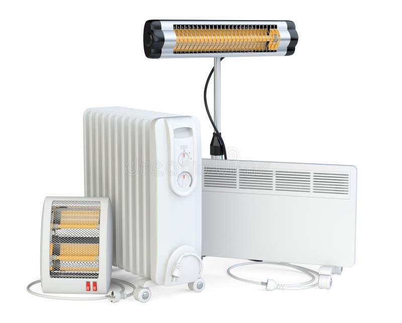Equipamento home para o aquecimento, o halogênio ou o infravermelho, engodo, quar ilustração stock