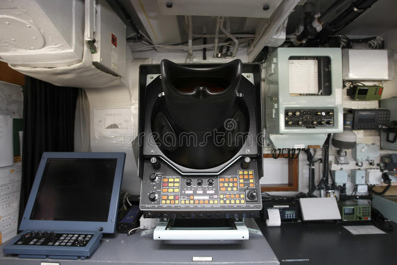 Equipamento interno submarino   foto de stock royalty free