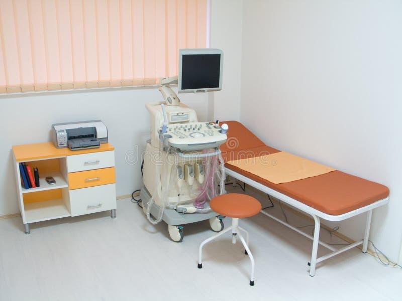 Equipamento médico do ultra-som fotografia de stock
