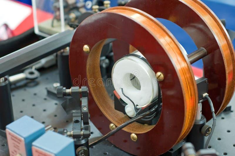 Equipamento magnético da pesquisa da bobina imagem de stock