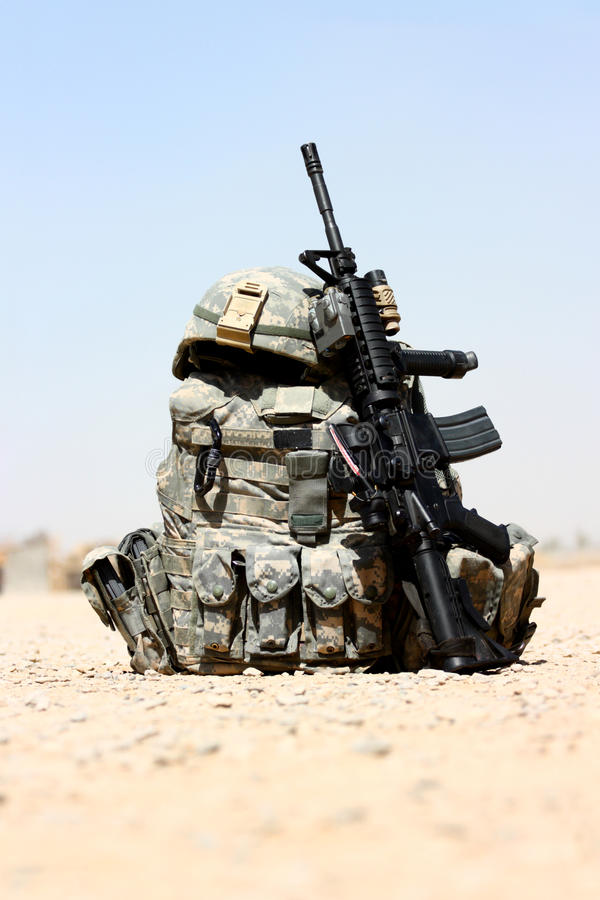 Equipamento militar fotos de stock