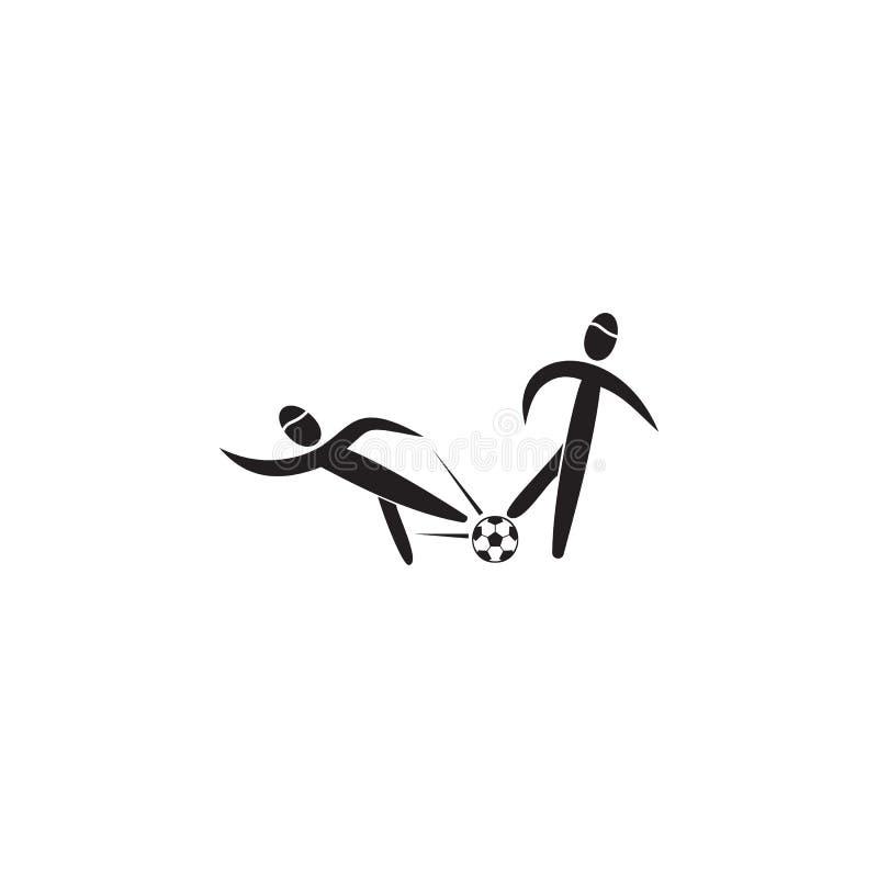 equipamento no ícone do futebol Elemento das figuras do ícone do desportista Ícone superior do projeto gráfico da qualidade Sinai ilustração stock
