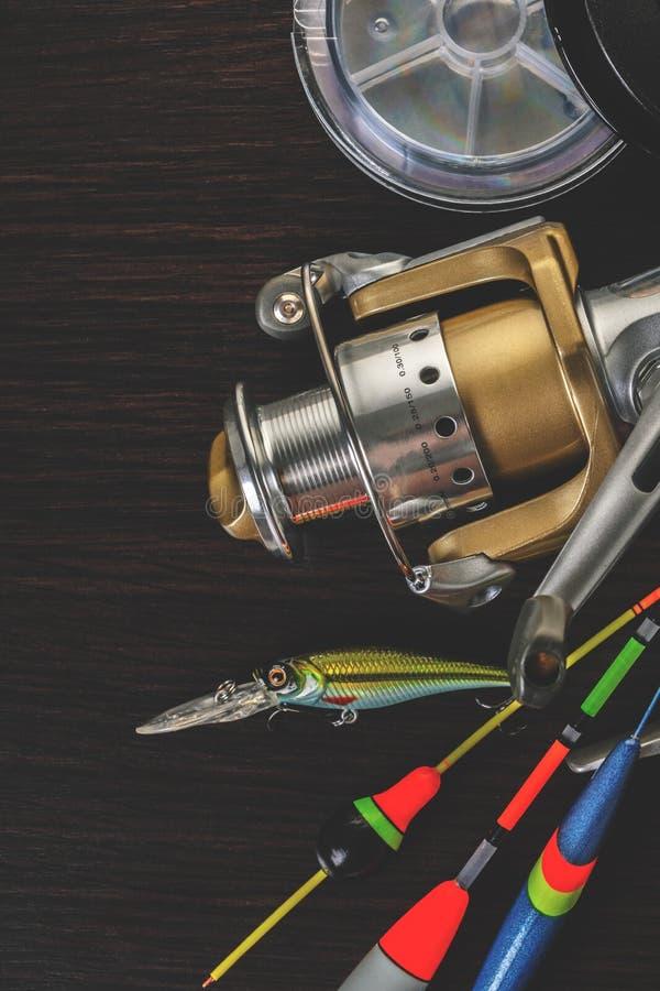 Equipamento para as varas de pesca imagem de stock royalty free