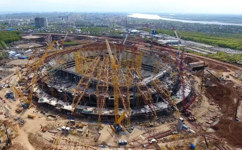 Equipamento para a construção do estádio imagens de stock royalty free