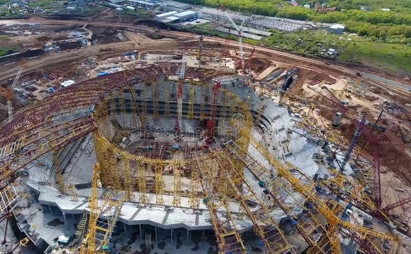 Equipamento para a construção do estádio imagens de stock
