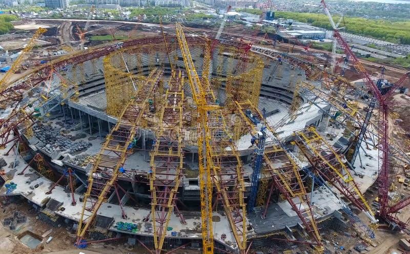 Equipamento para a construção do estádio fotos de stock royalty free