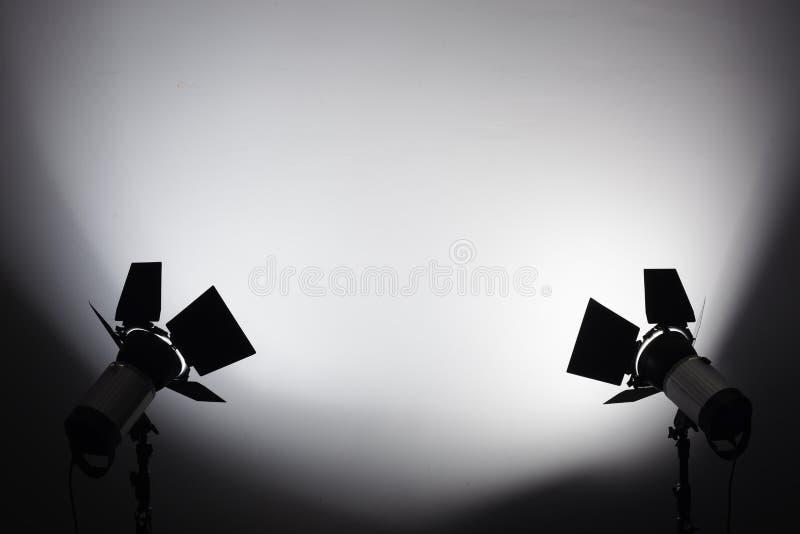 Equipamento para estúdios da foto e fotografia da forma Fundo imagem de stock royalty free