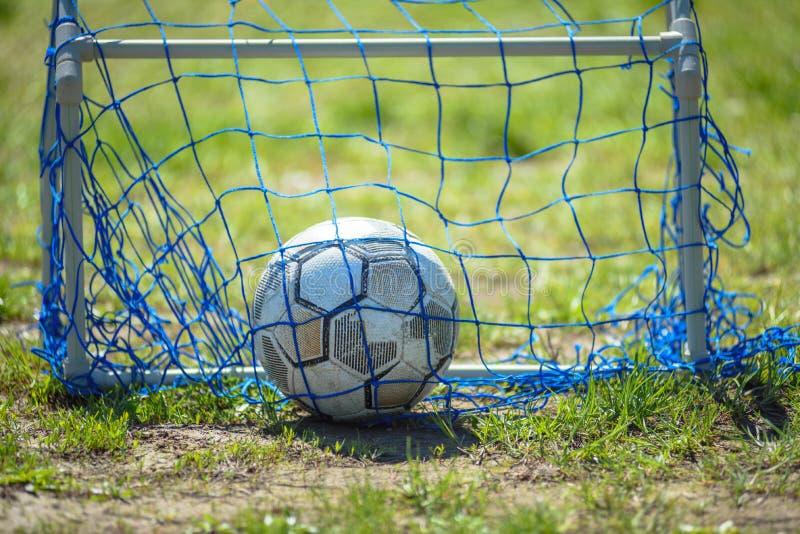 Equipamento para o mini futebol imagem de stock royalty free