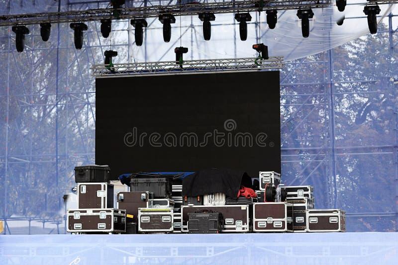Equipamento para um concerto fotografia de stock royalty free