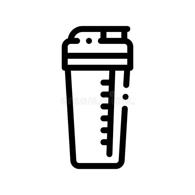 Equipamento Shaker Vetora Thin Line Icon do copo do esporte ilustração royalty free