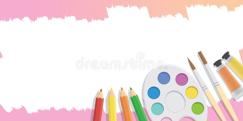 Equipamento vazio da bandeira para pintar para anunciar ilustração royalty free