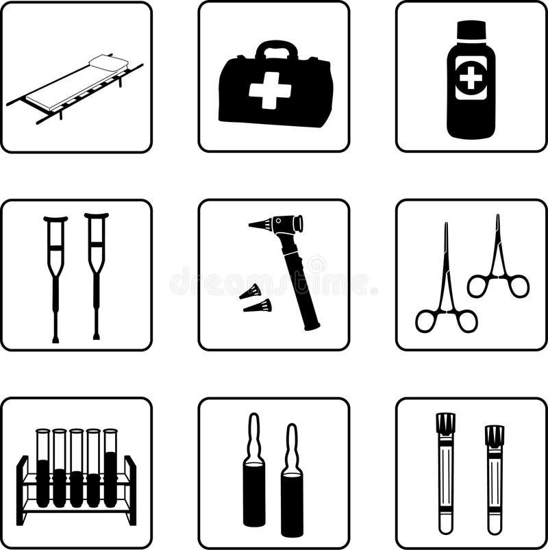 Equipamiento médico stock de ilustración