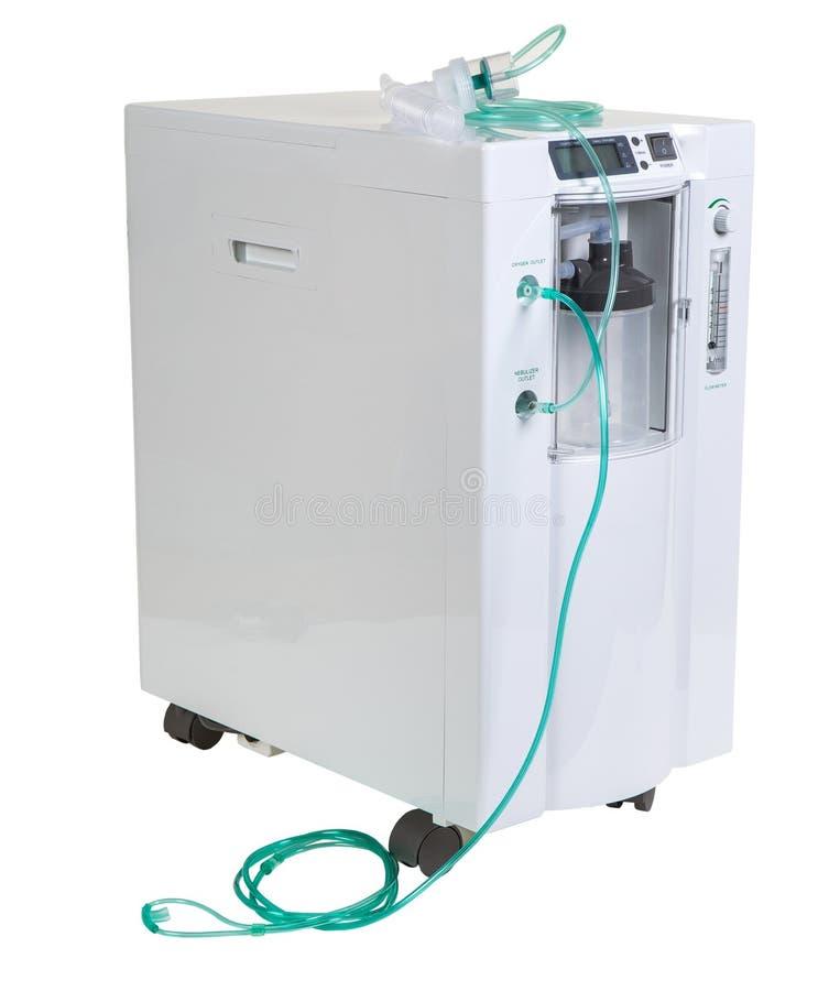 Equipamiento médico especial - barra del concentrador del oxígeno aislada encendido fotos de archivo