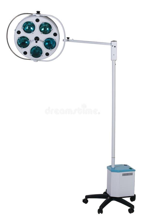 Equipamiento médico moderno - lámpara ajustable de la cirugía en sala de operaciones imagenes de archivo
