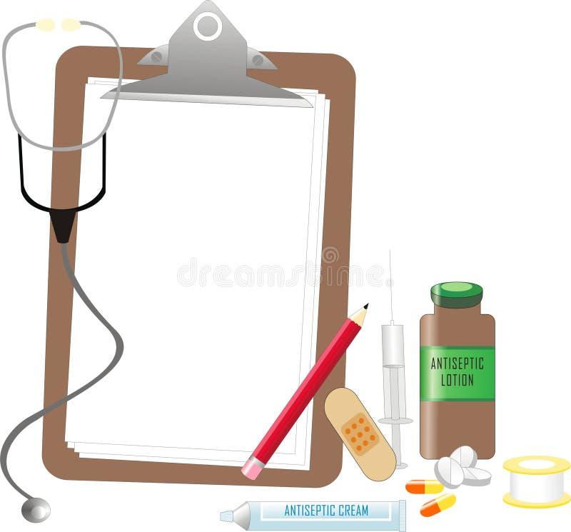 Equipamientos médicos stock de ilustración