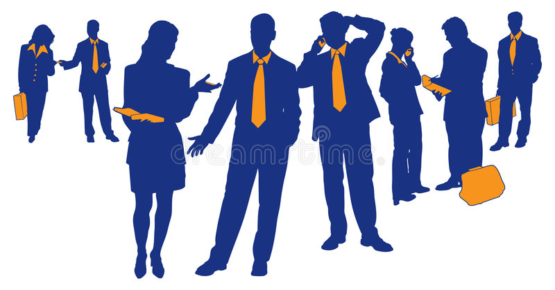 Equipe 1 do negócio ilustração stock