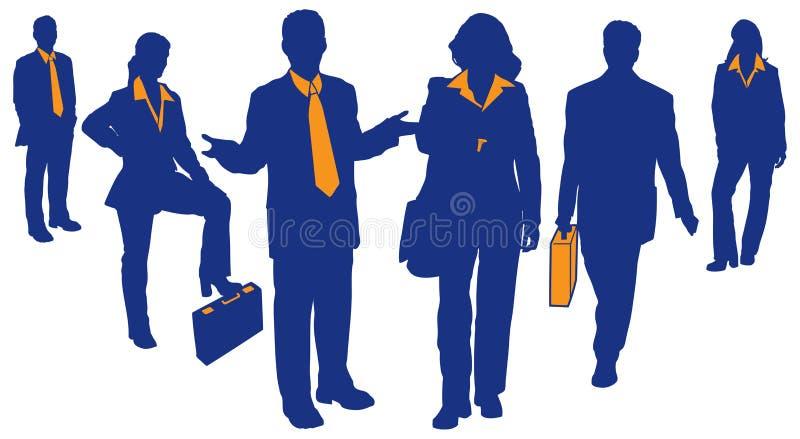 Equipe 2 do negócio ilustração stock