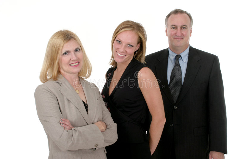 Equipe 2 do negócio de três pessoas imagem de stock