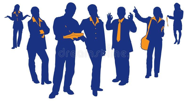 Equipe 3 do negócio ilustração do vetor