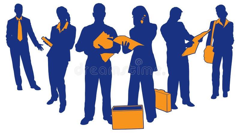 Equipe 4 do negócio ilustração do vetor