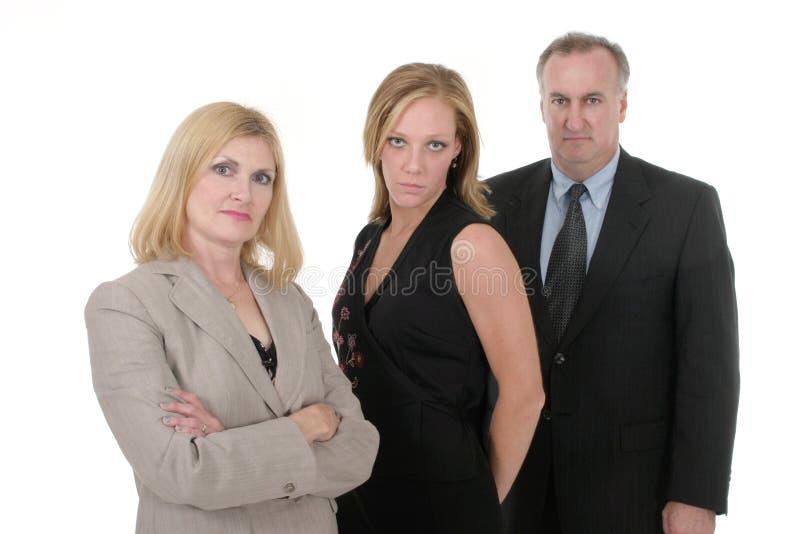Equipe 4 do negócio de três pessoas fotos de stock royalty free
