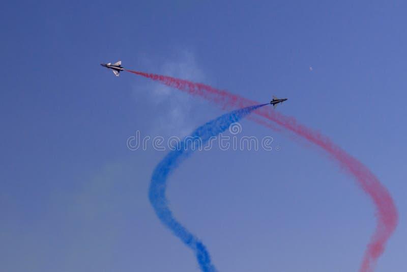 Equipe aerobatic chinesa foto de stock