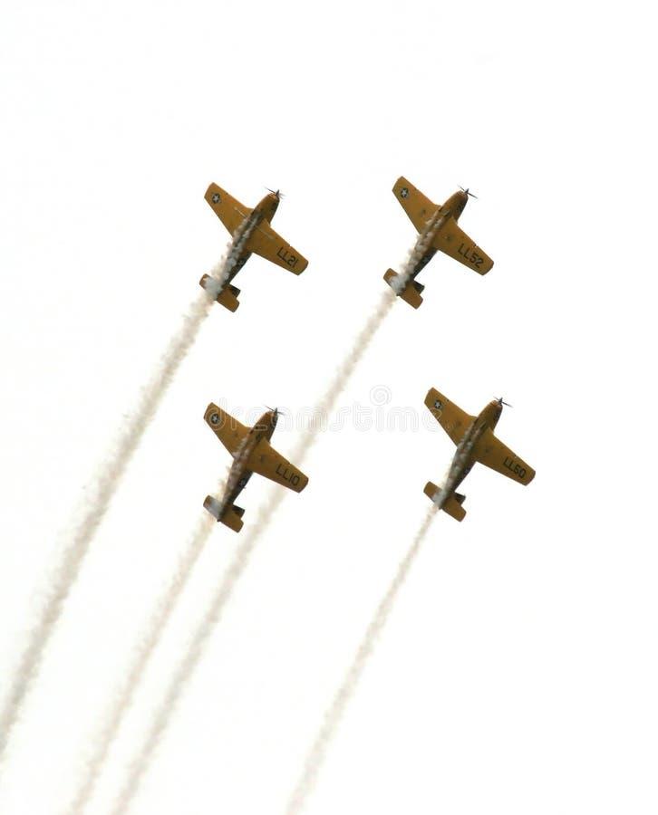 Equipe Aerobatic da marinha ilustração stock
