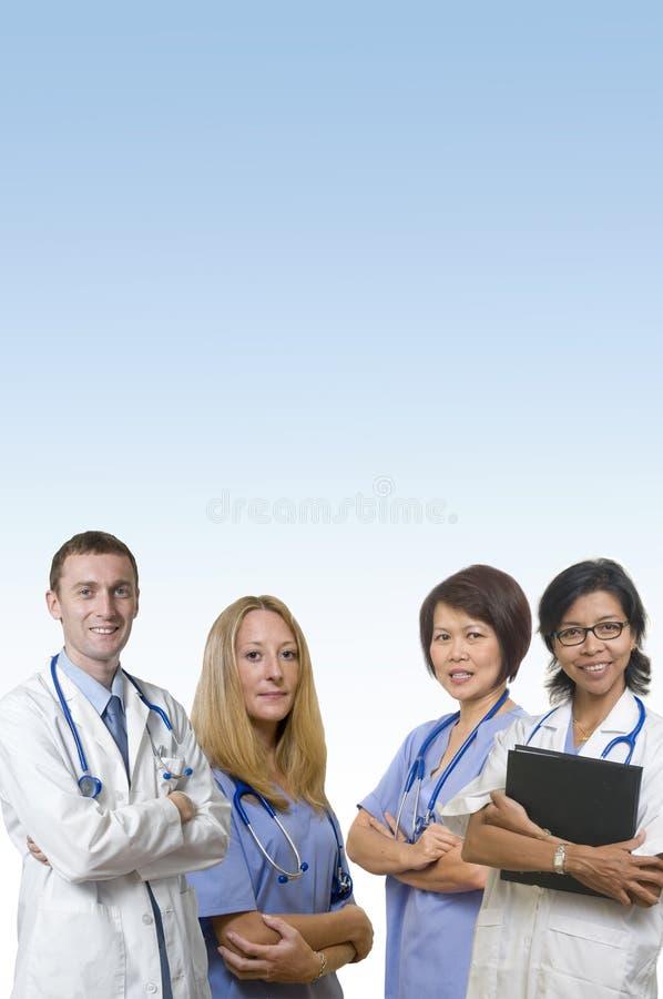 Equipe amigável do doutor imagem de stock