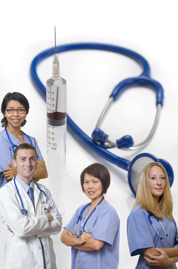 Equipe amigável do doutor fotos de stock