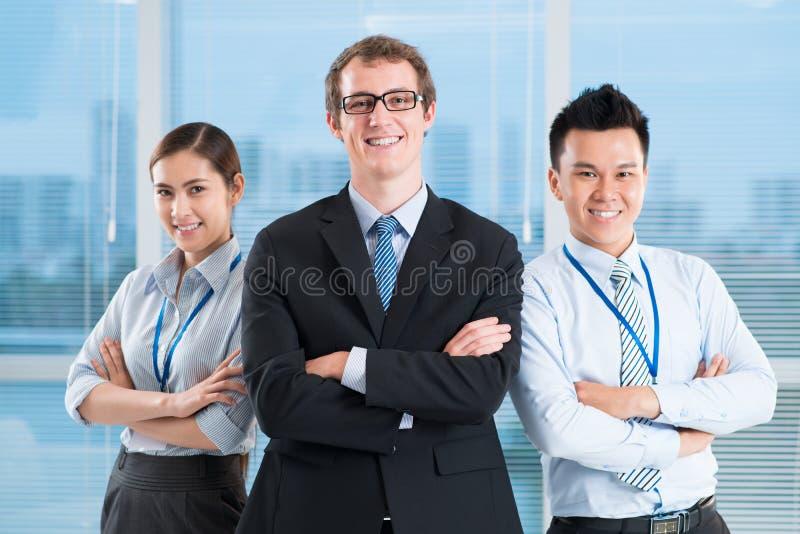 Equipe amigável do negócio foto de stock